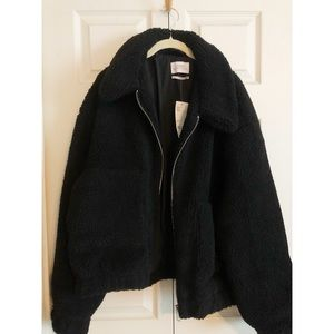 NWT Cropped Teddy Jacket Urban Outfitters